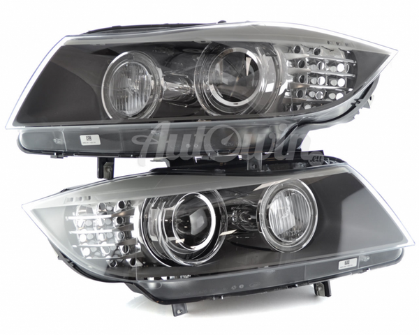 BMW 3 SERIES E90 E91 LCI BI-XENON ADAPTIVE HEADLIGHTS # 63117240263 # 63117240264