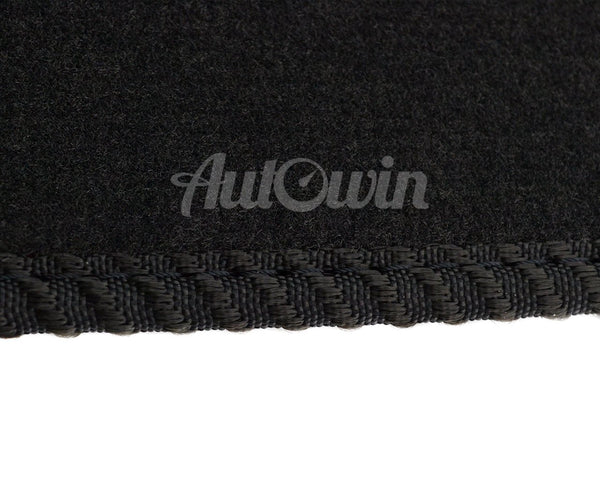Black Floor Mats For BMW 1 Series E82 E88 With 3 Color Stripes Tailored Set Perfect Fit