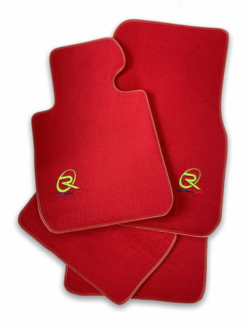 Red Floor Mats For BMW 4 Series G22 ROVBUT Brand Tailored Set Perfect Fit Green SNIP Collection