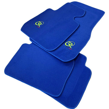 Blue Floor Mats For BMW 7 Series E65 ROVBUT Brand Tailored Set Perfect Fit Green SNIP Collection