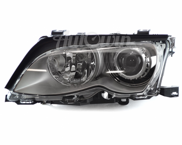 BMW 3 Series E46 Sedan BI-XENON HEADLIGHT AL/TITAN ECE LEFT # 63127165787