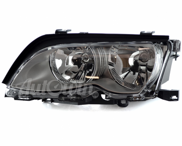 BMW 3 Series E46 Sedan HALOGEN HEADLIGHT AL/TITAN ECE LEFT SIDE # 63127165781