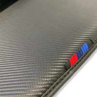 Floor Mats For BMW 3 Series E46 Coupe and Sedan AutoWin Brand Carbon Fiber Leather