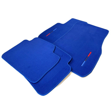 Blue Floor Mats For BMW X4 Series F26 With M Package AutoWin Brand