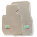 Beige Floor Mats For BMW Z4 Series E89 ROVBUT Brand Tailored Set Perfect Fit Green SNIP Collection