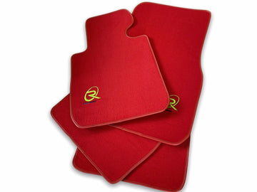 Red Floor Mats For BMW 2 Series F45 F46 ROVBUT Brand Tailored Set Perfect Fit Green SNIP Collection