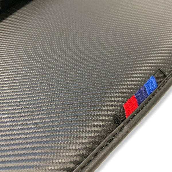 Floor Mats For BMW M2 Series F87 AutoWin Brand Carbon Fiber Leather