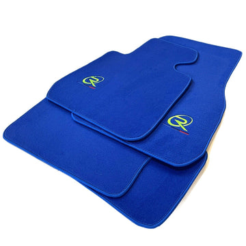 Blue Floor Mats For BMW 2 Series F45 F46 ROVBUT Brand Tailored Set Perfect Fit Green SNIP Collection