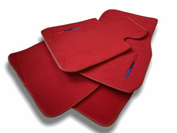 Red Floor Mats For BMW 3 Series G20 and G21 With M Package AutoWin Brand