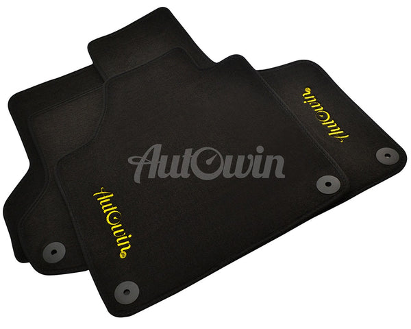 Floor Mats For Porsche 911 Carrera 997 (2005-2012) with AutoWin.eu Golden Logo