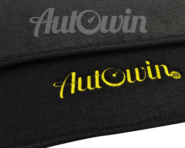 Floor Mats For Porsche Macan 95B (2014-Present) with AutoWin.eu Golden Logo
