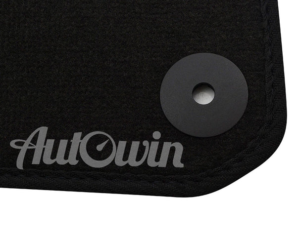 Floor Mats For Audi R8 1st Generation (2006-2015) with AutoWin.eu Golden Logo