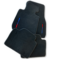Black Floor Mats For BMW 2 Series F45 F46 With Color Stripes Tailored Set Perfect Fit