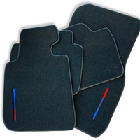 Black Floor Mats For BMW X5 Series G05 With Color Stripes Tailored Set Perfect Fit