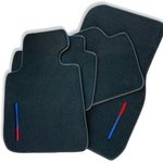 Black Floor Mats For BMW Z4 Series G29 With Color Stripes Tailored Set Perfect Fit