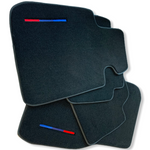 Black Floor Mats For BMW M8 Series Coupe F92 With Color Stripes Tailored Set Perfect Fit