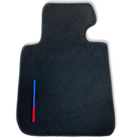 Black Floor Mats For BMW X5 Series E70 LCI With Color Stripes Tailored Set Perfect Fit