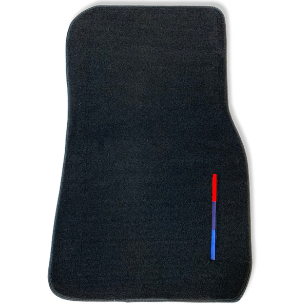 Black Floor Mats For BMW X6 Series F16 With Color Stripes Tailored Set Perfect Fit