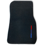 Black Floor Mats For BMW 6 Series E63 E64 With Color Stripes Tailored Set Perfect Fit