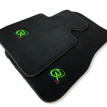 Floor Mats For BMW M2 Series F87 ROVBUT Brand Tailored Set Perfect Fit Green SNIP Collection