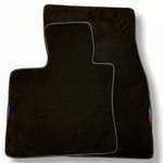 Black Floor Mats For BMW X5M Series F85 With 3 Color Stripes Tailored Set Perfect Fit