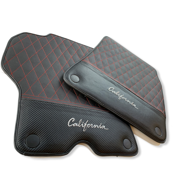 Floor Mats For Ferrari California Convertible 2008-2014 Leather Carbon Edition