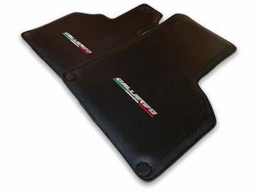 Floor Mats for Lamborghini Gallardo Carbon Fiber Leather