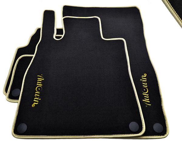 Floor Mats For Mercedes-Benz GL-Class X166 (2012-Present) with AutoWin.eu Golden Logo
