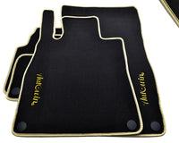 Floor Mats For Mercedes-Benz SLC-Class R172 (2011-Present) with AutoWin.eu Golden Logo