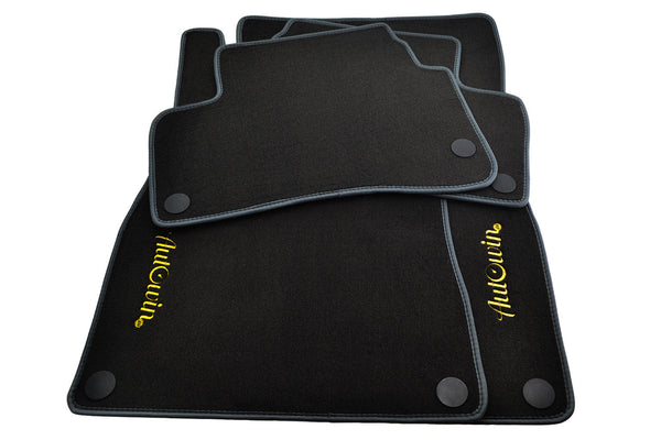 Floor Mats For Mercedes-Benz AMG GT R190 (2015-Present) with AutoWin.eu Golden Logo