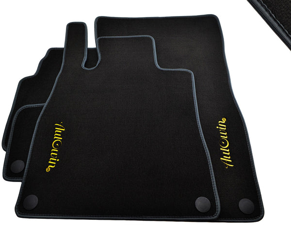 Floor Mats For Mercedes-Benz SLS-Class R197 (2010-2015) with AutoWin.eu Golden Logo