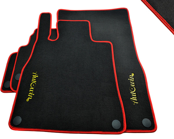 Floor Mats For Mercedes-Benz E-Class W213 (2016-Present) with AutoWin.eu Golden Logo