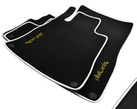 Floor Mats For Mercedes-Benz AMG GTS C190 (2015-Present) with AutoWin.eu Golden Logo
