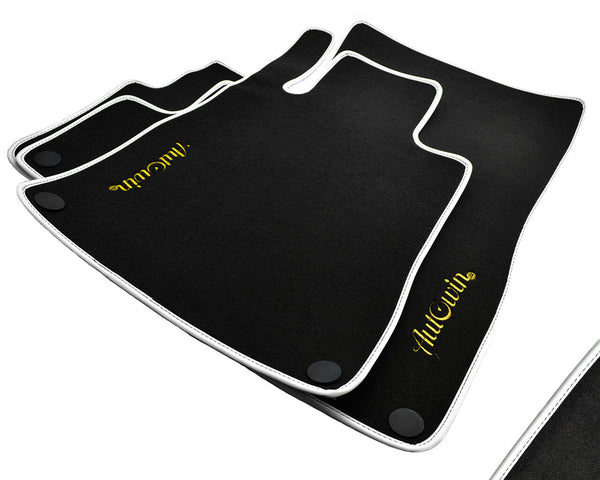 Floor Mats For Mercedes-Benz CL-Class C216 (2006-2013) with AutoWin.eu Golden Logo