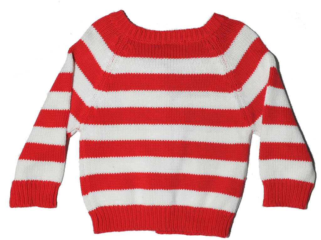 Red Jumper with white strips