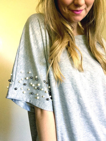 southern pearls - oversized dolman sleeve tee