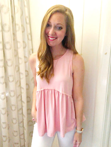tank you very much - peplum tank (blush)