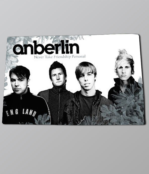 Anberlin Never Take Friendship Poster