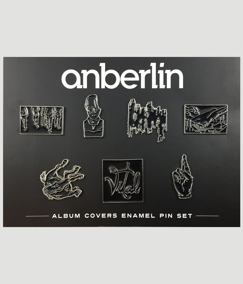 Anberlin Limited Edition Album Covers Enamel Pin Set