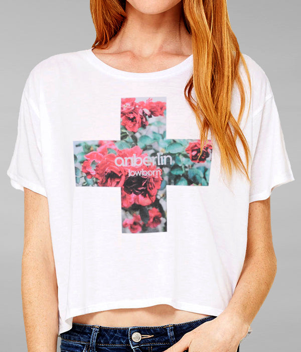 Anberlin Flower Womens Flowy Boxy Shirt