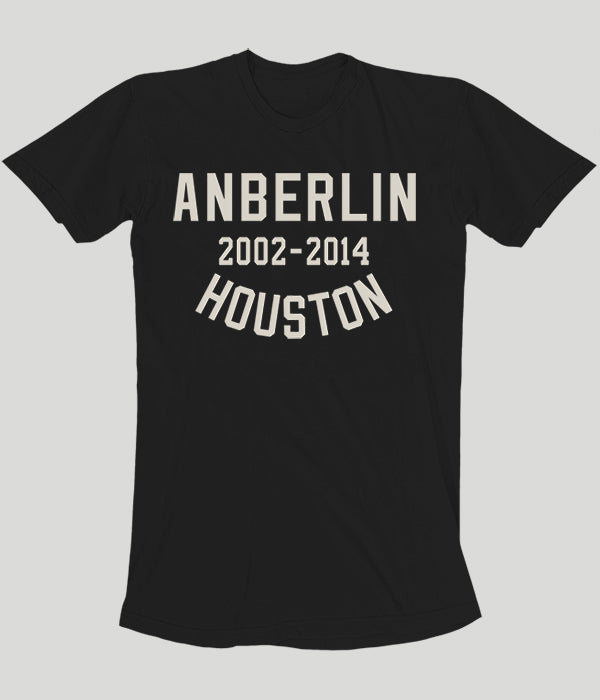 Anberlin Final Tour Houston Shirt