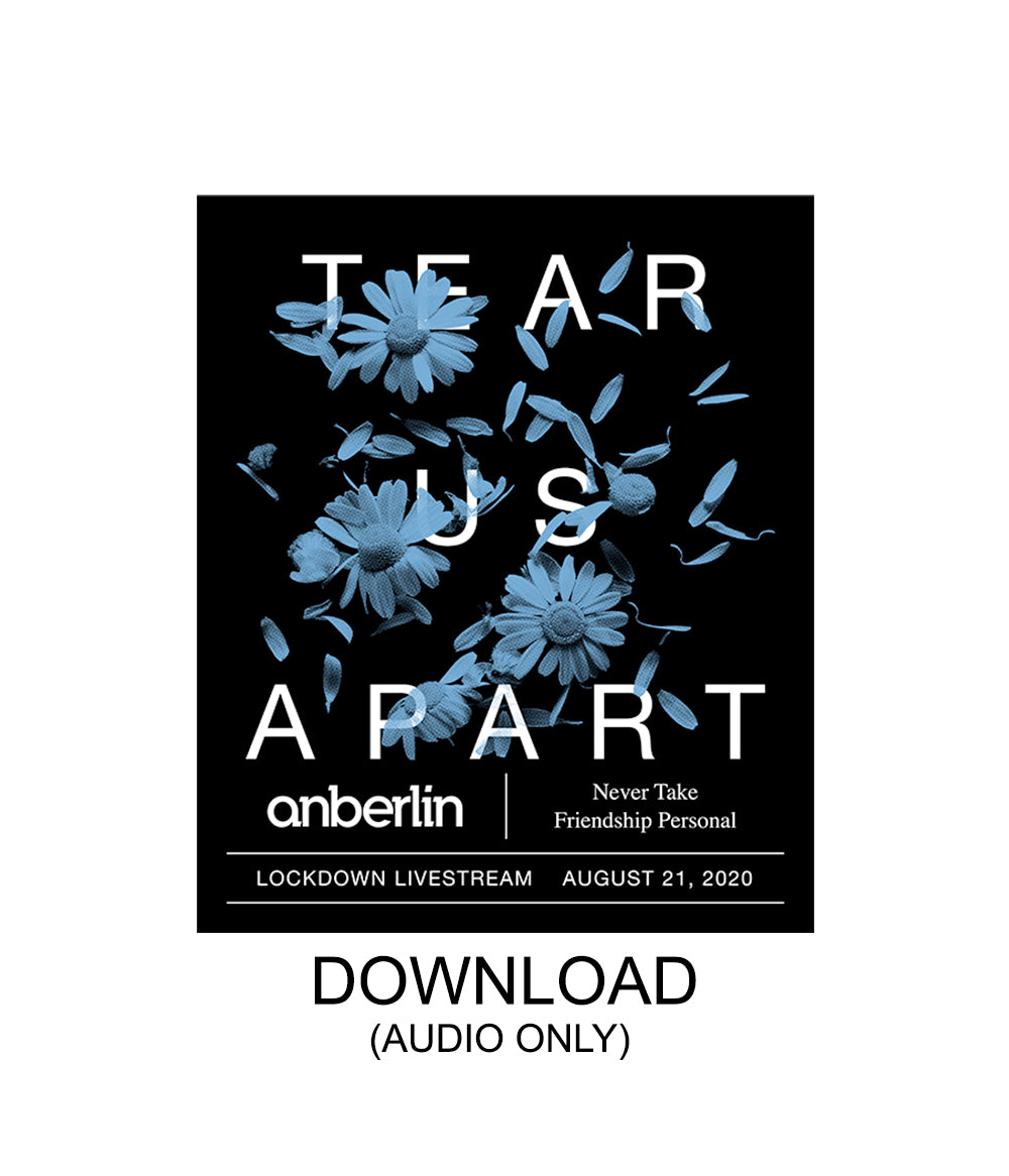 Anberlin Tear Us Apart Livestream Audio Digital Download
