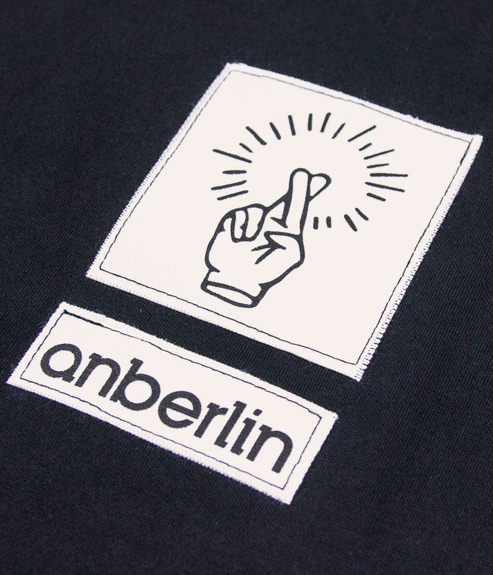 Anberlin Fingers Raw Edge Patch Crewneck Sweatshirt