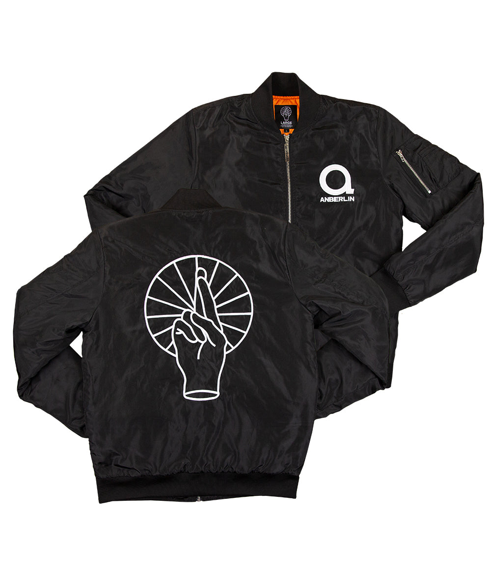 Anberlin Fingers Custom Bomber Jacket