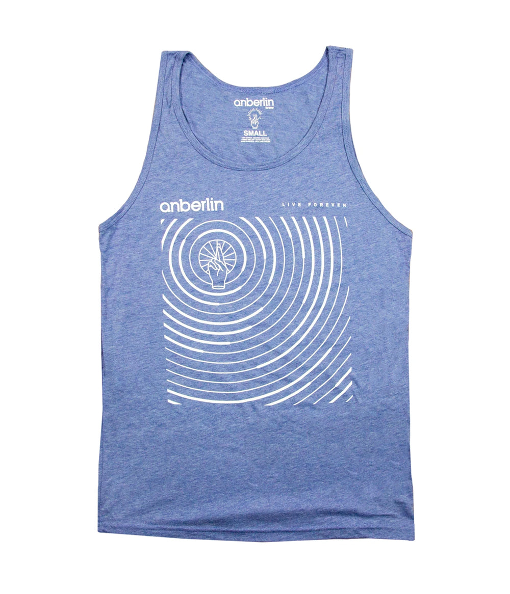 Anberlin Live Forever Tank Top (Blue)
