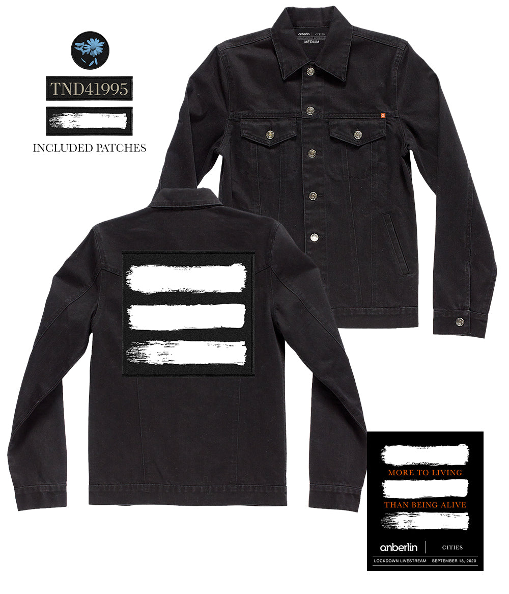 Anberlin More To Living Than Being Alive Denim Jacket Bundle *PREORDER - SHIPS NOV 13