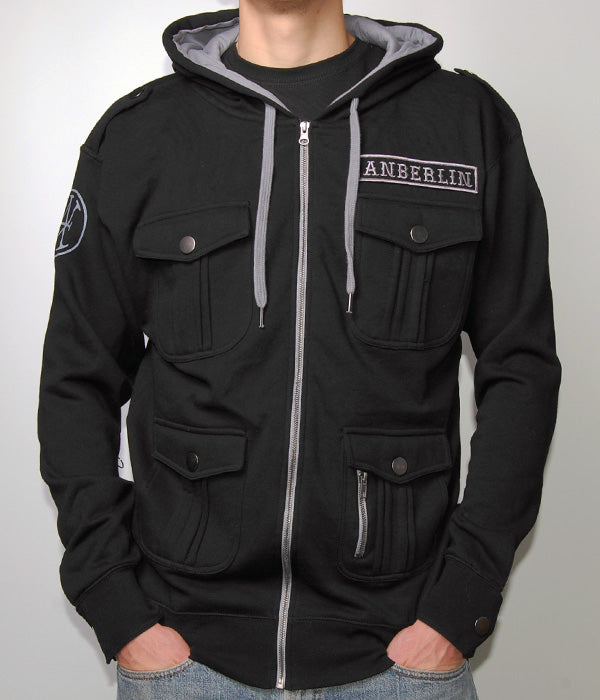 Anberlin M65 Military Zip Hooded Sweatshirt