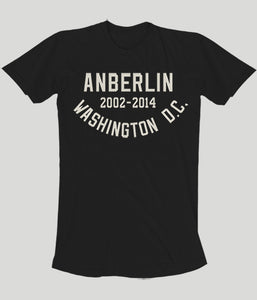 Anberlin Final Tour Washington DC Shirt