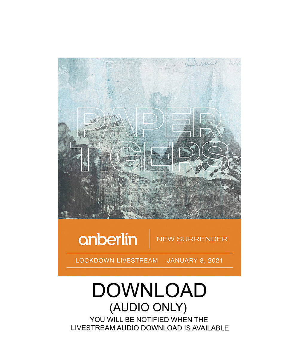 Anberlin Paper Tigers Livestream Audio Digital Download
