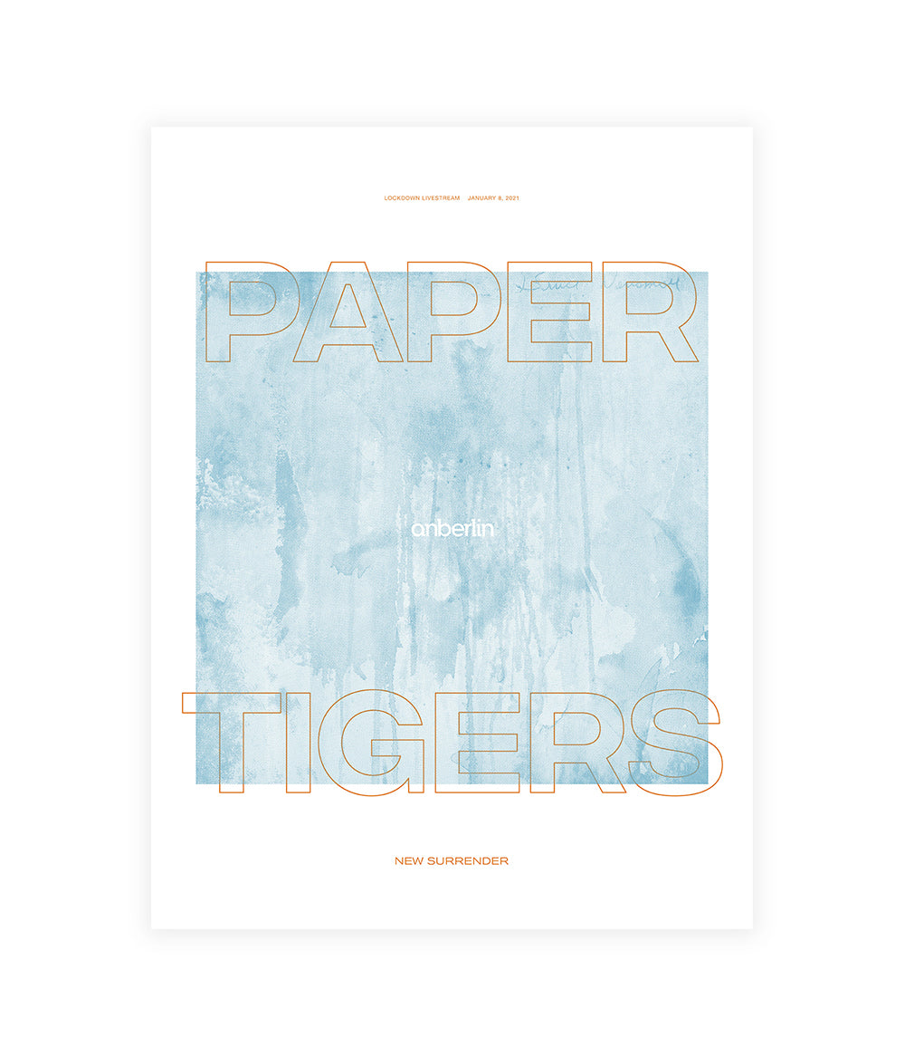 Anberlin Paper Tigers Livestream Poster